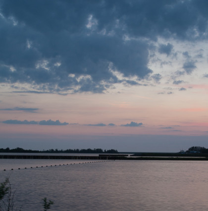 Timelapse zonsondergang Lauwersmeer