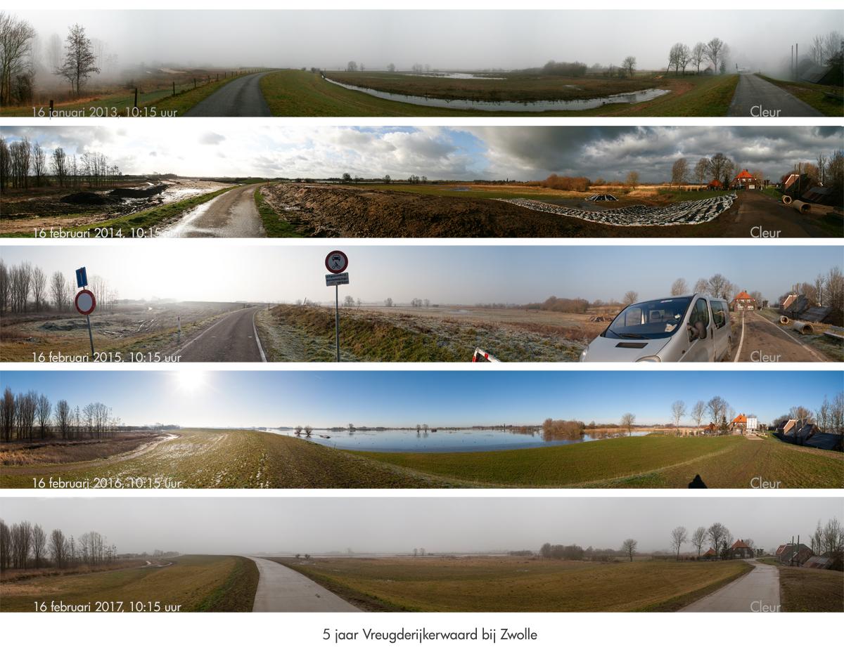 vijf jaar op rij in de Vreugderijkerwaard bij Zwolle