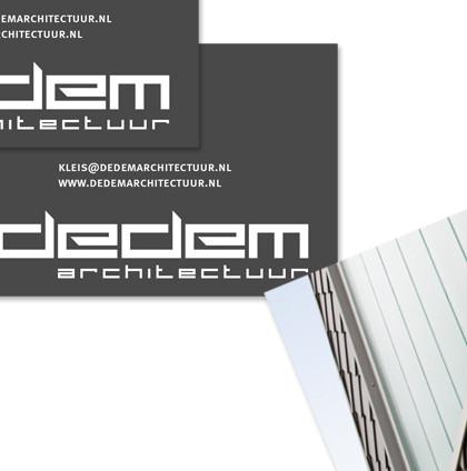 Huisstijl voor Dedem architectuur