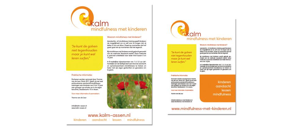 logo en poster Kalm