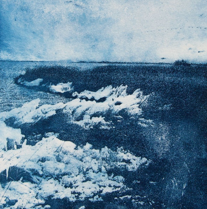 "Fotopolymeer ""Frozen whitecaps"""