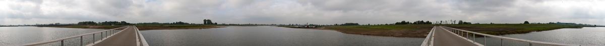 panorama op de brug